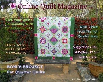 Online Quilt Magazine.com - Quilting Board