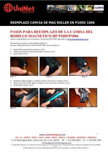 REEMPLAZO CAMISA DE MAG ROLLER EN ... - UniNet Argentina