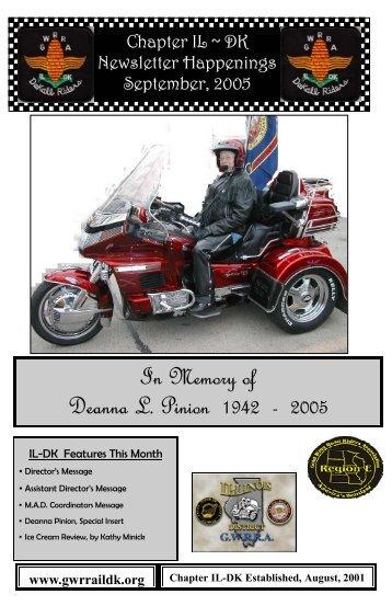 In Memory of Deanna L. Pinion 1942 - 2005 - Gwrraildk.org