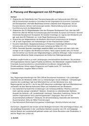 A. Planung und Management von EZ-Projekten - SID