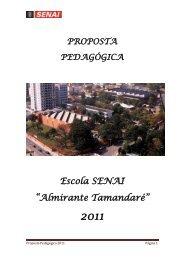 """Escola SENAI """"Almirante Tamandaré"""""""