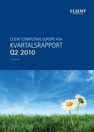 KVARTALSRAPPORT Q2 2010 - Netfonds