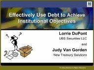 Effectively Use Debt to Achieve Institutional Objectives ... - NACUBO