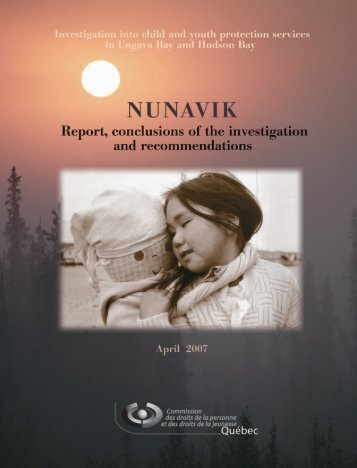 Nunavik - Investigation into child and youth protection ... - CDPDJ