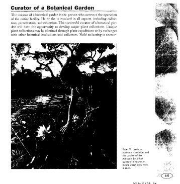 Curator of a Botanicail Garden