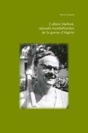 L'affaire Mathiot, épisode montbéliardais de la guerre d'Algérie