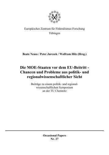 Die MOE-Staaten vor dem EU-Beitritt - Universität Tübingen