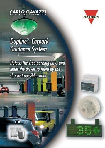 Dupline® Carpark Guidance System - Carlo Gavazzi
