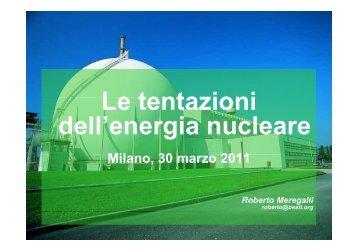 La tentazione del nucleare - Martinbuber.eu