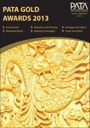GOLD AWARDS 2013 PATA Gold Awards 2013