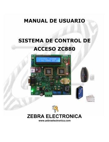 MANUAL ZC880 y CONTROLES DE PUERTA.pdf - Zebra Electronica