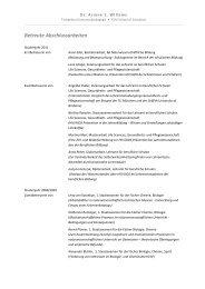 Betreute Abschlussarbeiten - Fachgebiet Gymnasialpädagogik