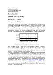 Dekoder tonskog biranja - Laboratorija za digitalnu obradu signala