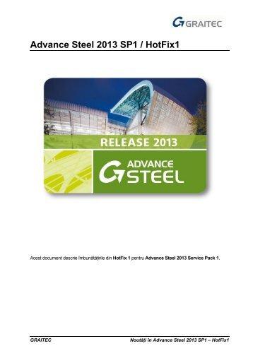 Advance Steel 2013 SP1 / HotFix1 - GRAITEC Info