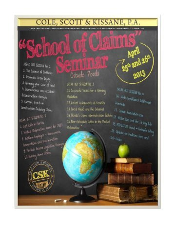 Attendees may download the Seminar Brochure and Schedule here.