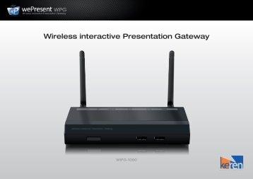 Wireless interactive Presentation Gateway - Kerèn Presentatie ...