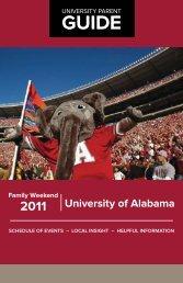 University of Alabama Family Weekend 2011 - University Parent