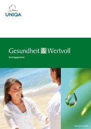 Gesundheit & Wertvoll Vertragspartner - Uniqa