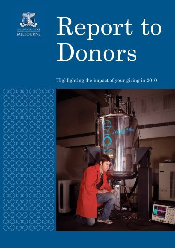Highlighting the impact of your giving in 2010 - University of ...