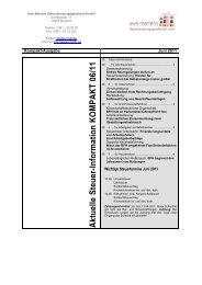 Aktuelle Steuer-Information für Selbständige (Allgemein)