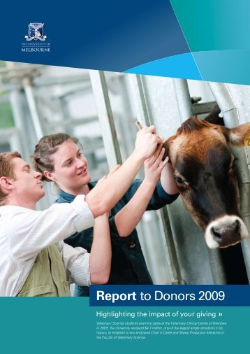 Report to Donors 2009 - University of Melbourne