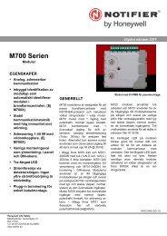 M700 Serien - Notifier
