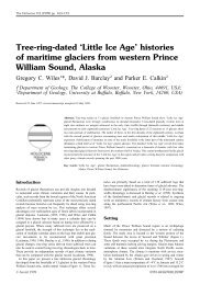 Tree-ring-dated 'Little Ice Age' histories of maritime glaciers from ...