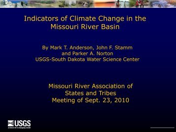 Water Availability for the Western United States - Missouri River ...