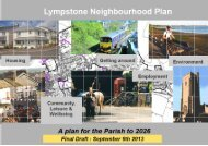 Lympstone Neighbourhood Plan Final Draft - Lympstone Village ...
