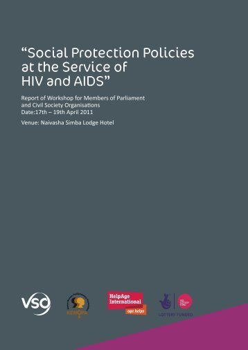 Social protection policies at the service of HIV and AIDS - VSO