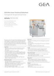 GEA Niro Soavi Ariete NS3030 Tech Sheets ENG Rev02 2013