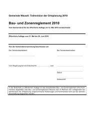 Bau- und Zonenreglement BZR - Gemeinde Wauwil