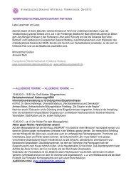 Terminticker - Evangelisches Dekanat Wetterau