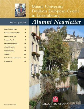 Alumni Newsletter - units.muohio.edu - Miami University