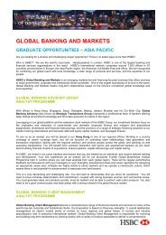 global banking and markets graduate opportunities - Career ...