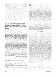 Use of Urine Pregnancy Test for Rapid Diagnosis of Primary ...