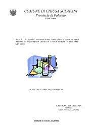 gestione impianto depurazione 2007-8 - Comune di Chiusa Sclafani