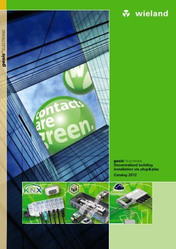 gesis® ELECTRONIC Building automation ... - Wieland Electric