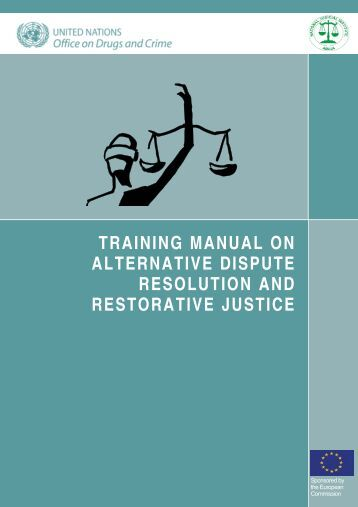 training manual on alternative dispute resolution and restorative ...