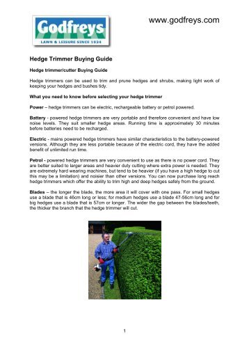 Hedge Trimmer Buying Guide - Godfreys