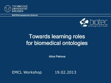 Towards learning roles for biomedical ontologies - centria
