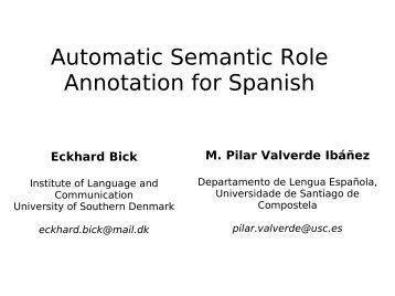 semantic roles - VISL