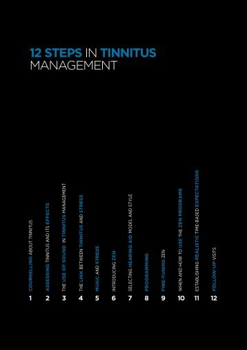 12 steps in tinnitus management - Widex for professionals