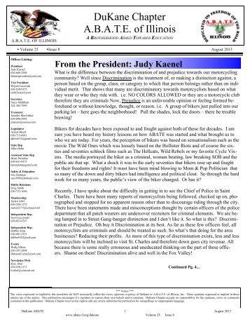 August 2013 Newsletter.pub - ABATE of Illinois