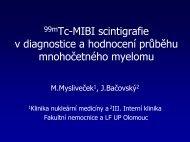 99mTc-MIBI scintigrafie v diagnostice a hodnocení průběhu ...