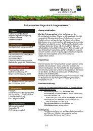 Freiraumachse längs durch Langenzersdorf - Unser Boden