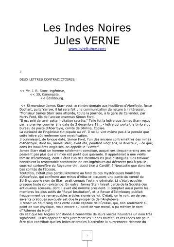 Les Indes Noires Jules VERNE - livrefrance.com