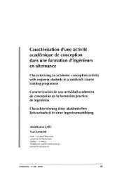 Caractérisation d'une activité académique de conception dans une ...