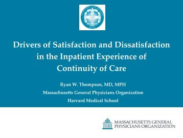 An Analysis to Determine Drivers of Satisfaction ... - AcademyHealth