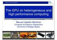 The GPU on heterogeneous and high performance computing